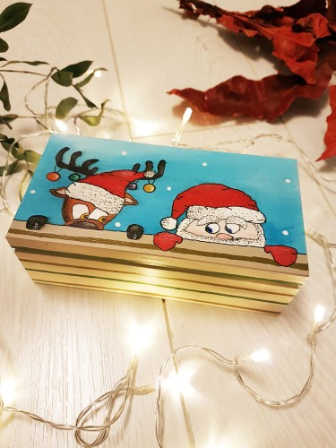 Reindeer and little Santa