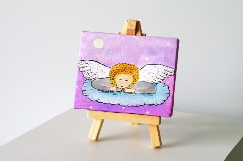 Purple pinky angel's night