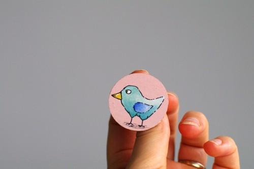 Blue bird badge