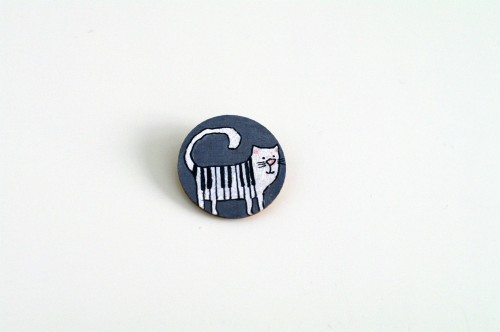 Piano cat badge