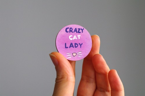 Crazy cat lady badge