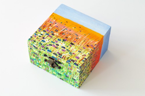 Colorful landscape box with flowers