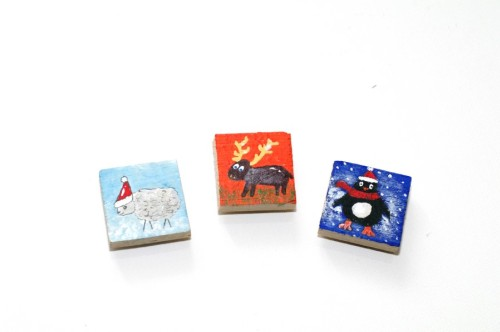 Small square fridge magnet