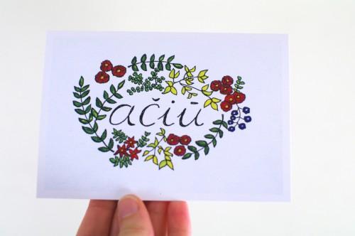 Ačiū (flowers)