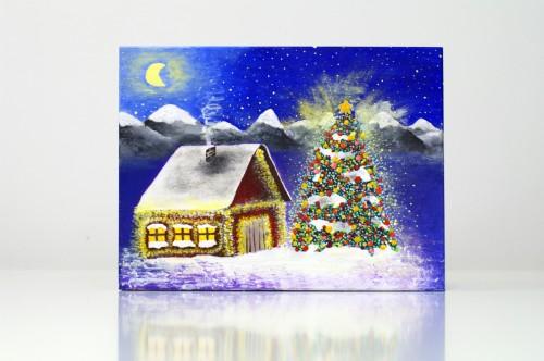 Christmas box with lighting house