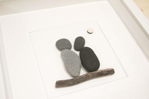 Friendship pebble art