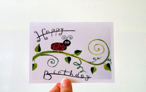 Happy birthday with ladybug