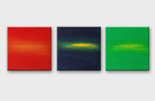 Three sunsets (triptych)
